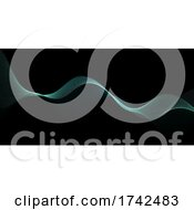 Abstract Banner With Flowing Particles Design
