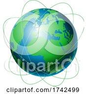 Poster, Art Print Of Network Communications Globe Design