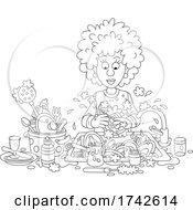 05/05/2021 - Woman Washing Dishes