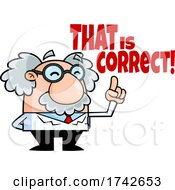 Science Professor Albert Einstein Character Saying That Is Correct