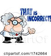 Science Professor Albert Einstein Character That Is Incorrect
