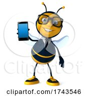3d Business Bee Character On A White Background