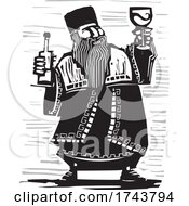 Poster, Art Print Of Russian Czar With Wine