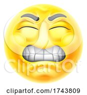 Poster, Art Print Of Angry Jealous Mad Hate Emoticon Cartoon Face