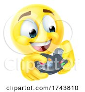Poster, Art Print Of Gamer Video Game Cartoon Emoji Emoticon Face