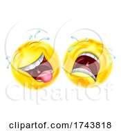 Poster, Art Print Of Comedy Tragedy Theatre Masks Emoticon Face Icons