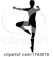 Poster, Art Print Of Dancing Ballet Dancer Silhouette