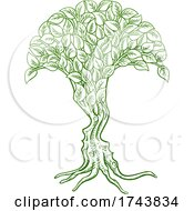 Poster, Art Print Of Optical Illusion Tree Faces Concept