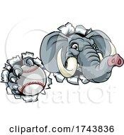 Elephant Baseball Ball Sports Animal Mascot