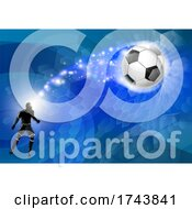 Soccer Silhouette Man Abstract Football Background