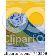 WatertonGlacier International Peace Park The Union Of Waterton Lakes National Park In Canada And Glacier National Park In The United States WPA Poster Art