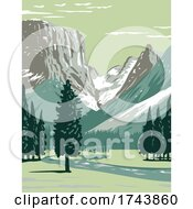 Upper Green River On The Western Side Of Continental Divide In BridgerTeton National Forest In Wind River Range Wyoming WPA Poster Art