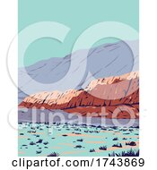 Red Rock Canyon In Red Rock Canyon National Conservation Area Located In Clark County Nevada WPA Poster Art