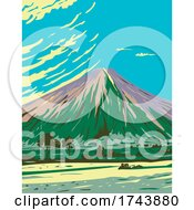 Mauna Loa In Hawaii Volcanoes National Park One Of Five Volcanoes That Form The Island Of Hawaii WPA Poster Art