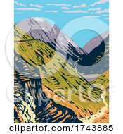 GoingToTheSun Road Viewed From Logan Pass A Scenic Mountain Road In The Rocky Mountains Located In Glacier National Park In Montana WPA Poster Art
