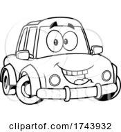 Black And White Happy Car Mascot
