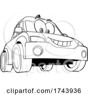 Black And White Car Character