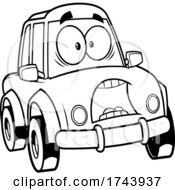 Black And White Scared Car Mascot