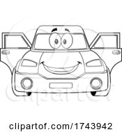 Black And White Car With Open Doors