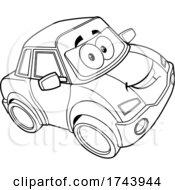 Black And White Car Mascot