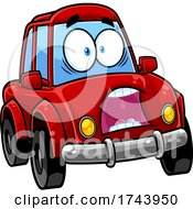 Scared Car Mascot