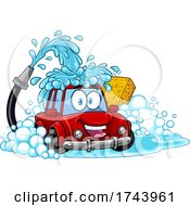 Happy Automobile in a Car Wash by Hit Toon #COLLC1743961-0037