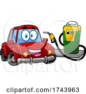 Happy Car at a Gas Station by Hit Toon #COLLC1743963-0037