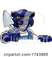 Panther Bricklayer Builder Holding Trowel Tool