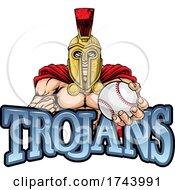 Trojan Spartan Baseball Sports Mascot