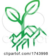 Plant Seedling Growing Out Of Earth Icon Concept