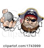 Pirate Golf Ball Sports Mascot Cartoon