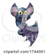 Halloween Vampire Bat Cartoon Character Sign