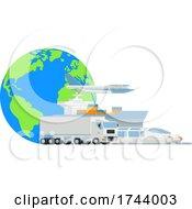 Poster, Art Print Of Logistic Transport Cargo World Globe Design