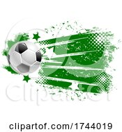 Soccer Ball With Stars And Grunge