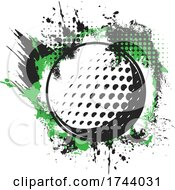 Golf Ball With Grunge