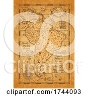 Poster, Art Print Of Antique Styled Map Of South America