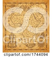 Poster, Art Print Of Antique Styled Map Of Africa
