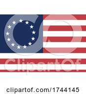The 13 White Stars Circling Over Blue In The Corner Of The Red And White Striped Betsy Ross American Flag