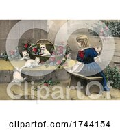 Girl In A Garden With Kittens by JVPD