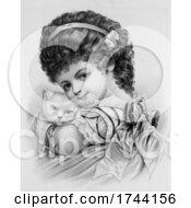 Little Girl Holding Her Cat by JVPD