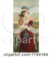 Young Lady Hugging A Pug Dog