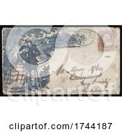Civil War Envelope Sith A Soldier Comforting A Weeping Woman