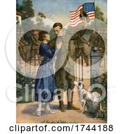 Poster, Art Print Of Soldier Saying Goodbye To His Love And Heading Off To War
