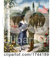 Poster, Art Print Of Soldier Saying Farewell To His Love And Heading Off To War