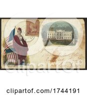 Poster, Art Print Of Civil War Envelope Showing Columbia And White House