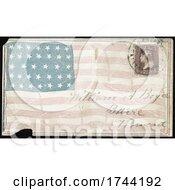 Civil War Envelope Showing 34 Star American Flag