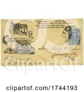 Civil War Envelope Showing Confederate Stars And Bars Flag Over Cannon With Patriotic Verse