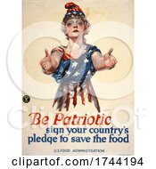 Be Patriot Woman Save The Food