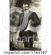 Theodore Roosevelt Over We Have Room For But One Flag Text