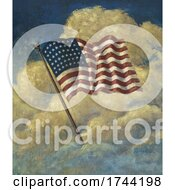 Poster, Art Print Of American Flag In The Clouds